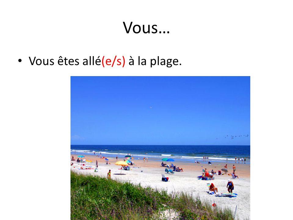 Vous… Vous êtes allé(e/s) à la plage.