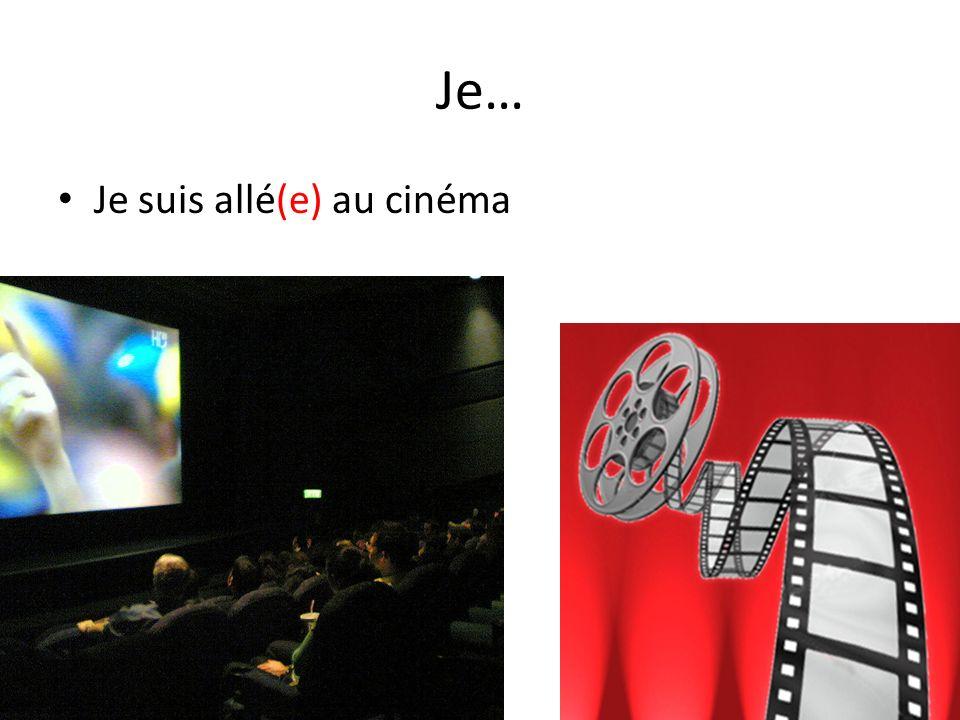 Je… Je suis allé(e) au cinéma