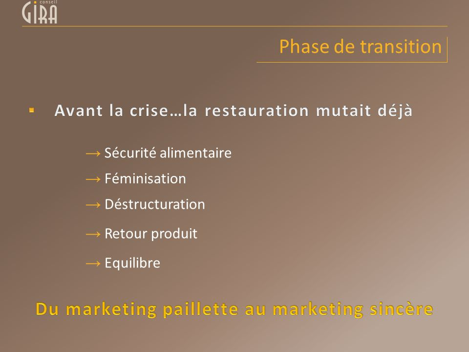 Du marketing paillette au marketing sincère