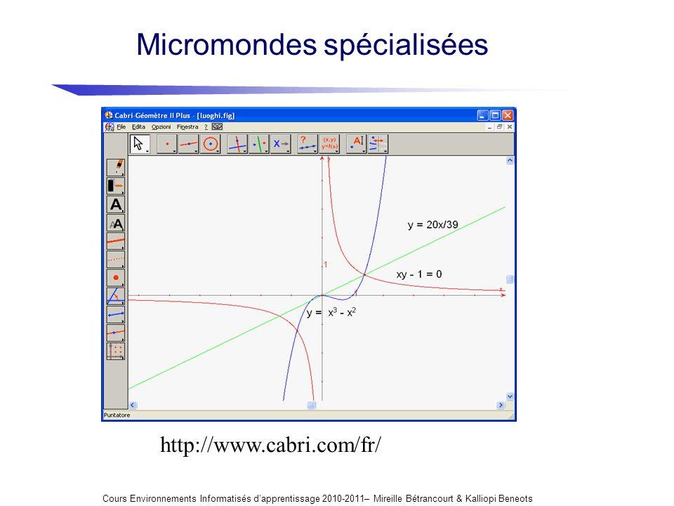 Micromondes spécialisées