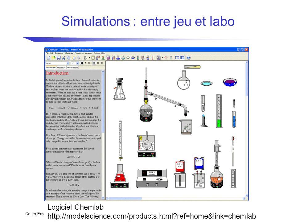 Simulations : entre jeu et labo