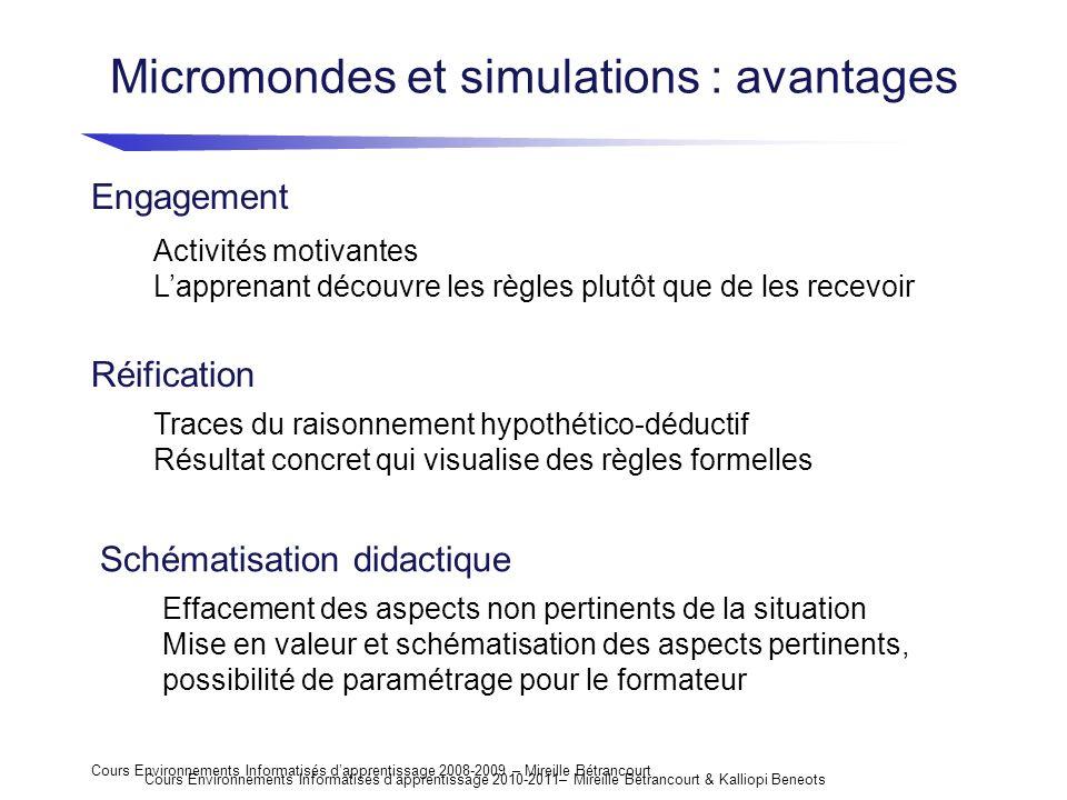 Micromondes et simulations : avantages