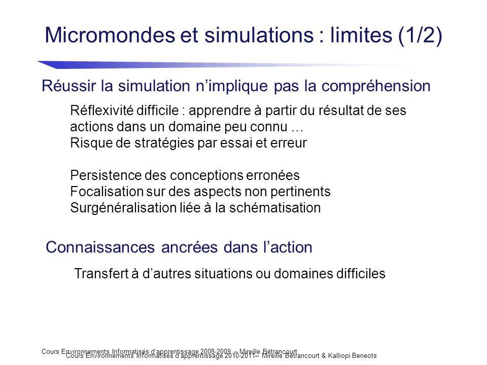 Micromondes et simulations : limites (1/2)