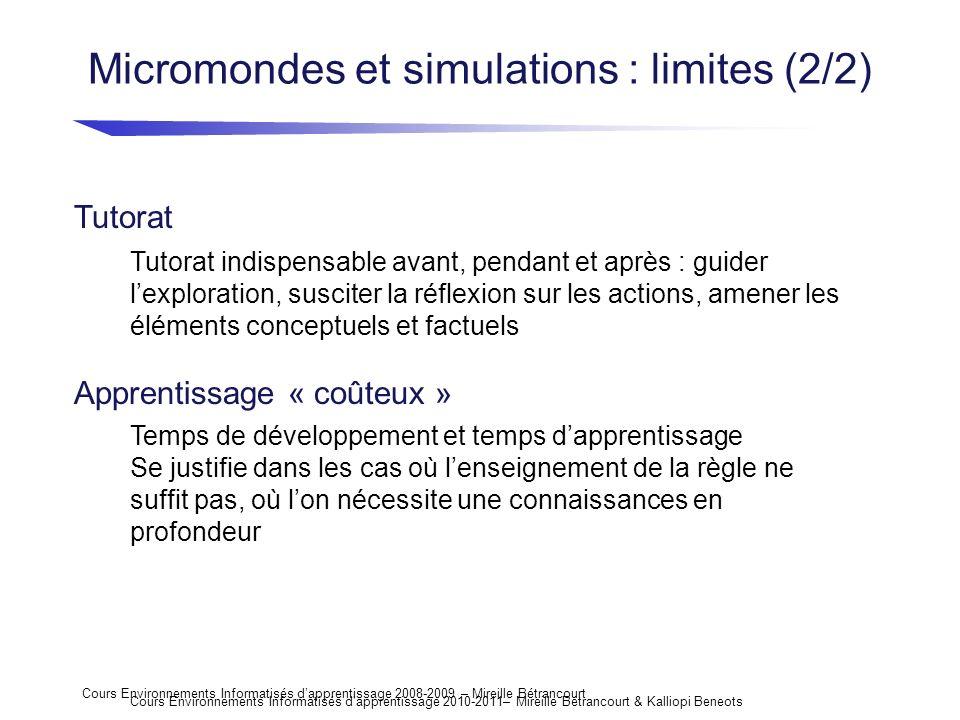Micromondes et simulations : limites (2/2)