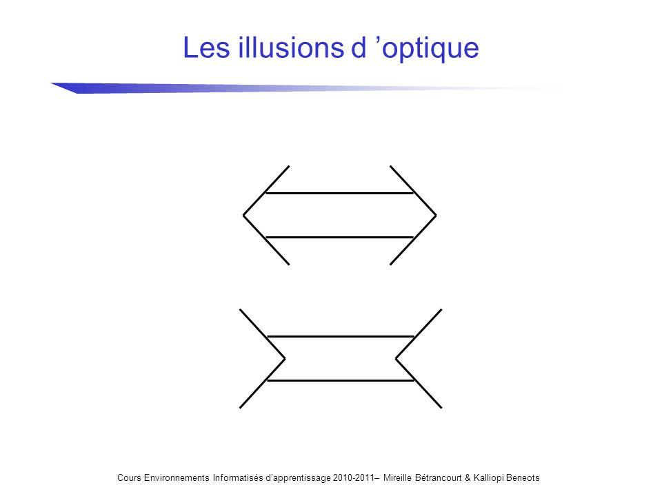 Les illusions d 'optique