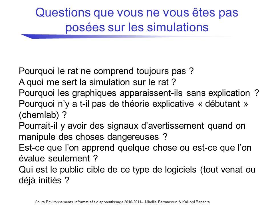Questions que vous ne vous êtes pas posées sur les simulations