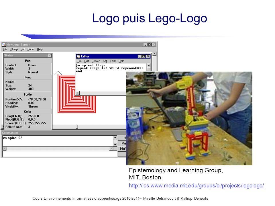 Logo puis Lego-Logo Epistemology and Learning Group, MIT, Boston.