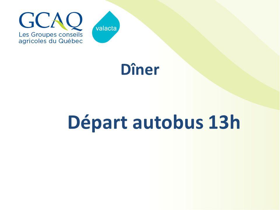 Dîner Départ autobus 13h