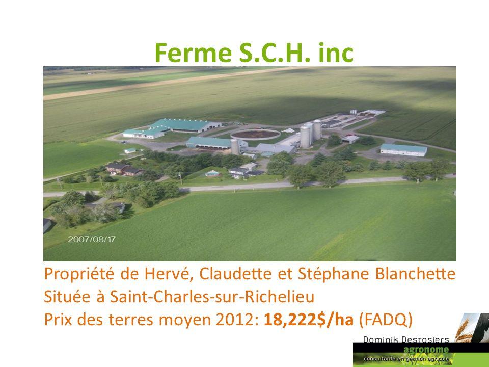 Ferme S.C.H. inc Propriété de Hervé, Claudette et Stéphane Blanchette