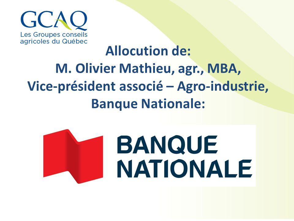M. Olivier Mathieu, agr., MBA,