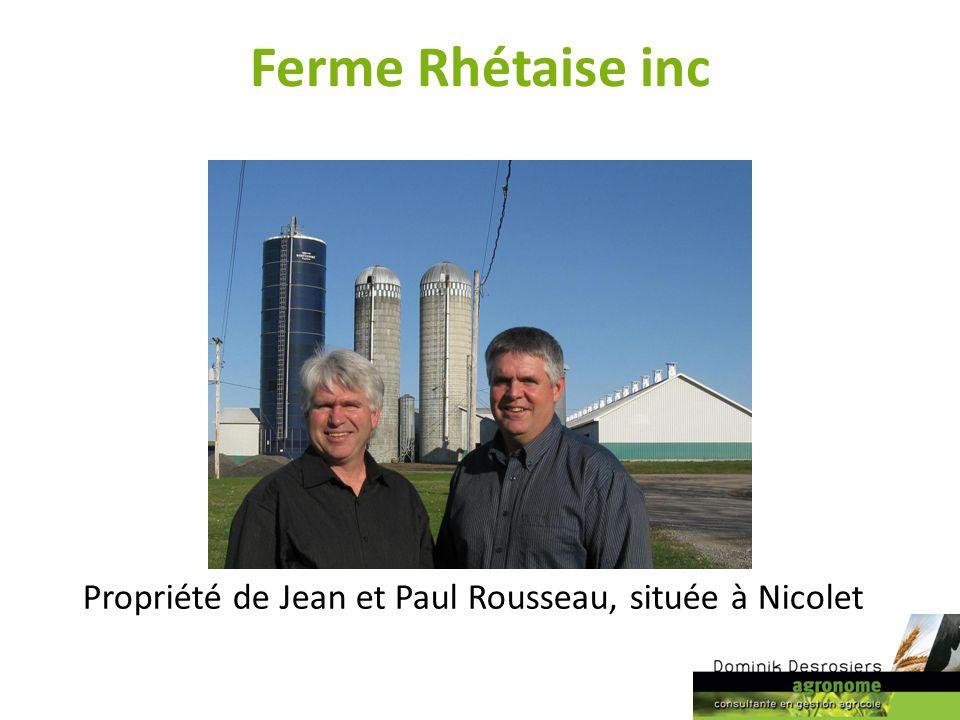 Ferme Rhétaise inc Propriété de Jean et Paul Rousseau, située à Nicolet