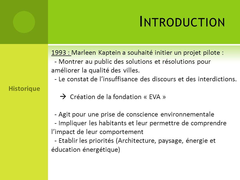 Introduction 1993 : Marleen Kaptein a souhaité initier un projet pilote :