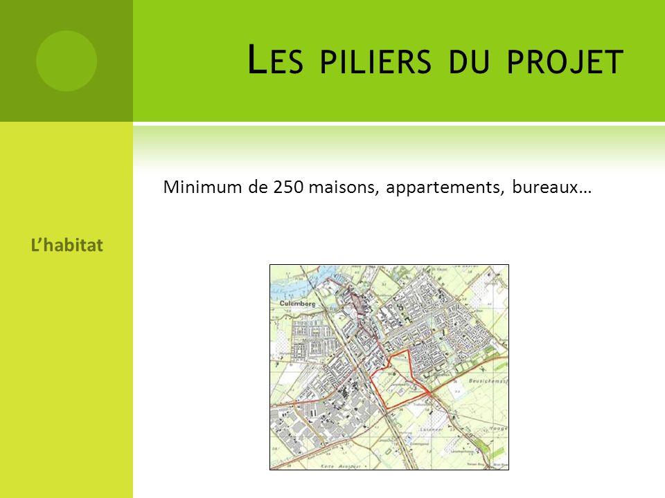 Les piliers du projet Minimum de 250 maisons, appartements, bureaux…