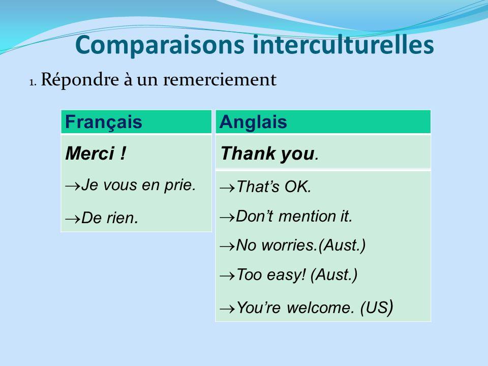 Comparaisons interculturelles
