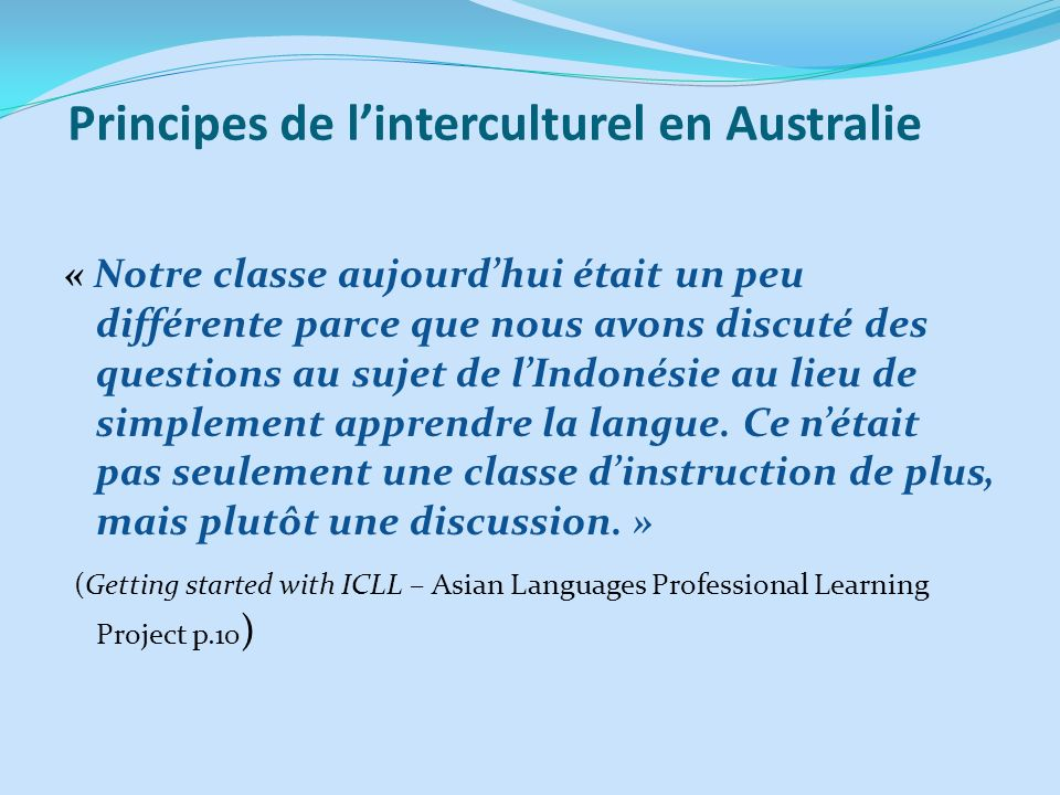 Principes de l'interculturel en Australie