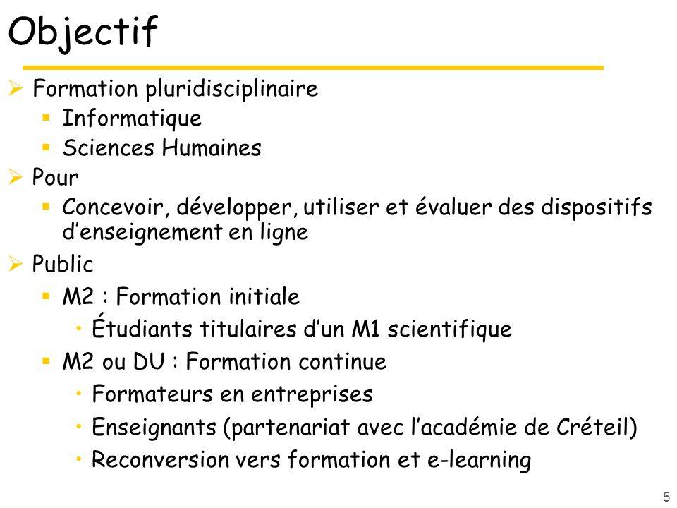 Objectif Formation pluridisciplinaire Informatique Sciences Humaines