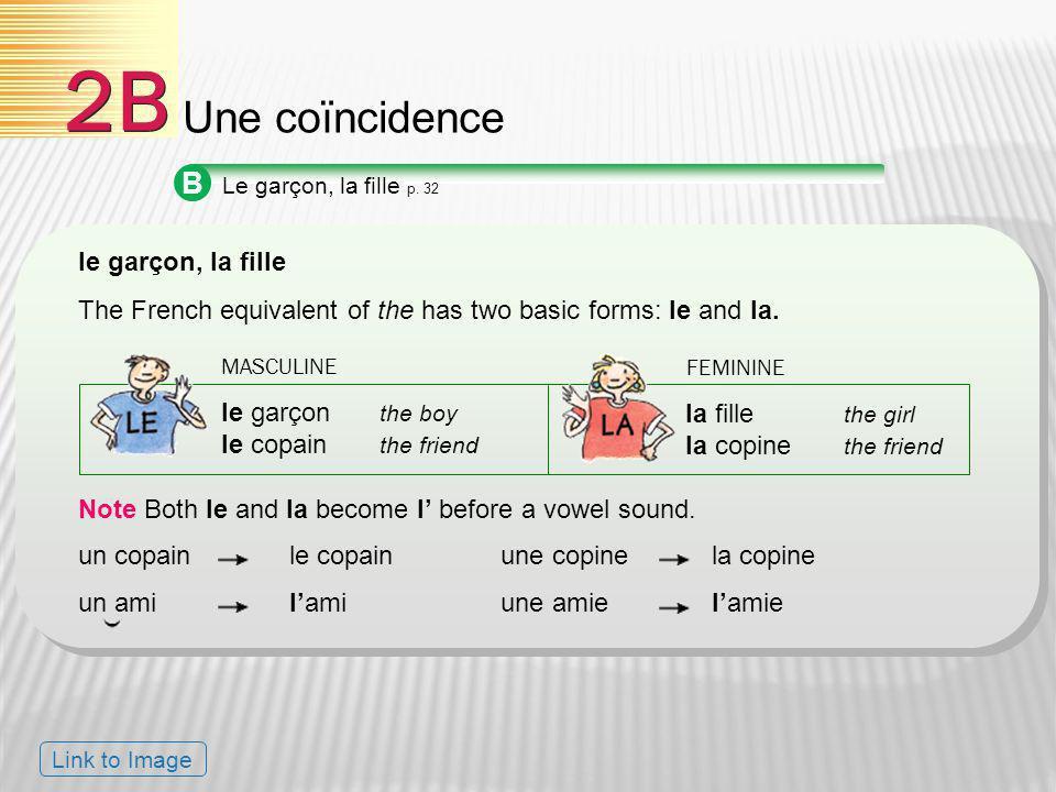 2B Une coïncidence B le garçon, la fille