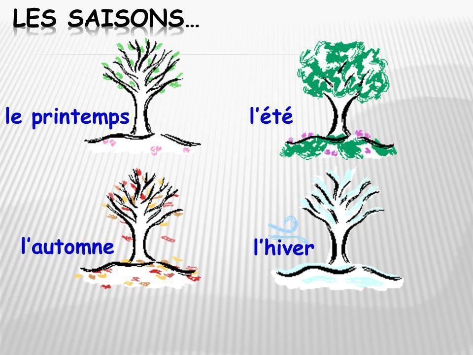 Les Saisons… le printemps l'été l'automne l'hiver