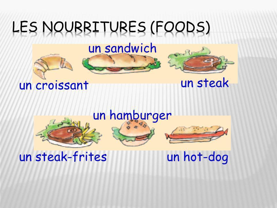Les nourritures (foods)