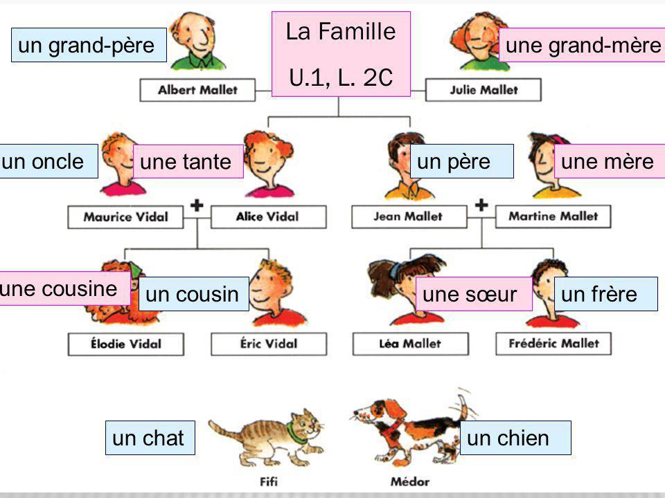 La Famille U.1, L. 2C un grand-père une grand-mère un oncle une tante