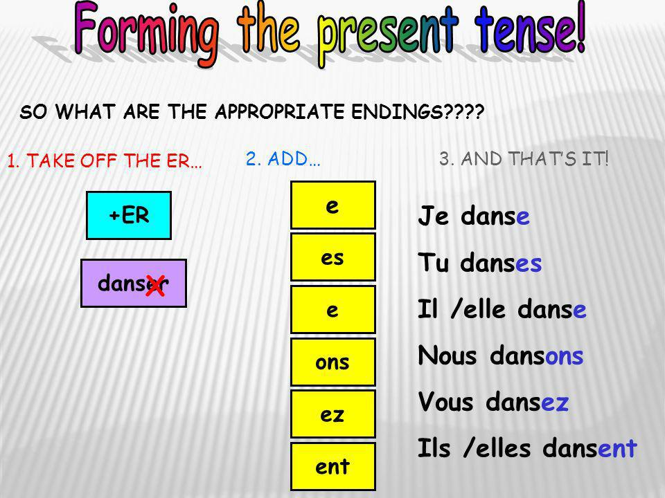 Forming the present tense!