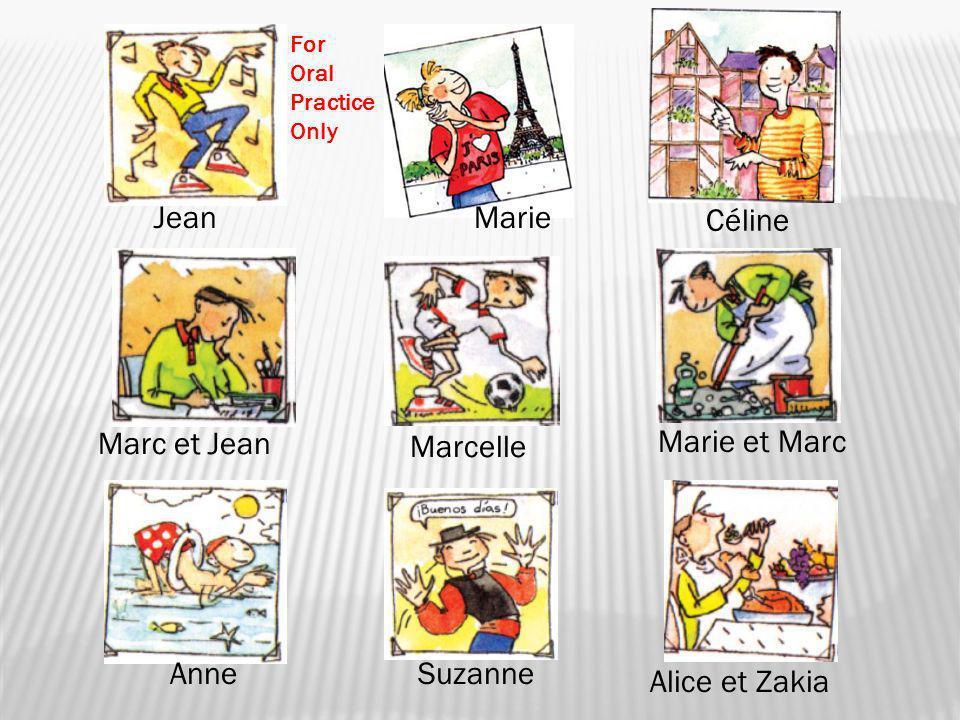 Jean Marie Céline Marc et Jean Marcelle Marie et Marc Anne Suzanne