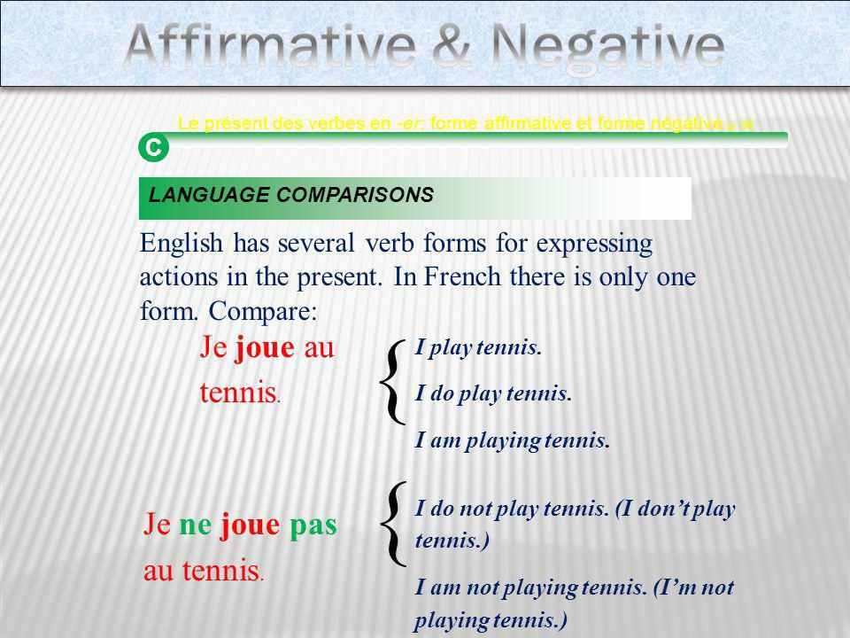 Affirmative & Negative