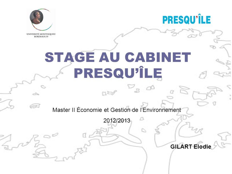 STAGE AU CABINET PRESQU'ÎLE