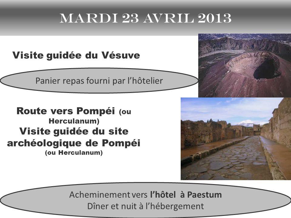 mardi 23 avril 2013 Visite guidée du Vésuve