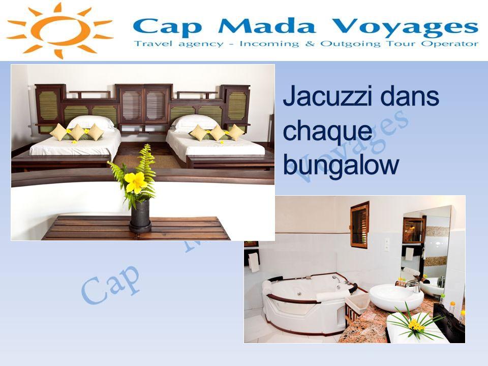 Jacuzzi dans chaque bungalow