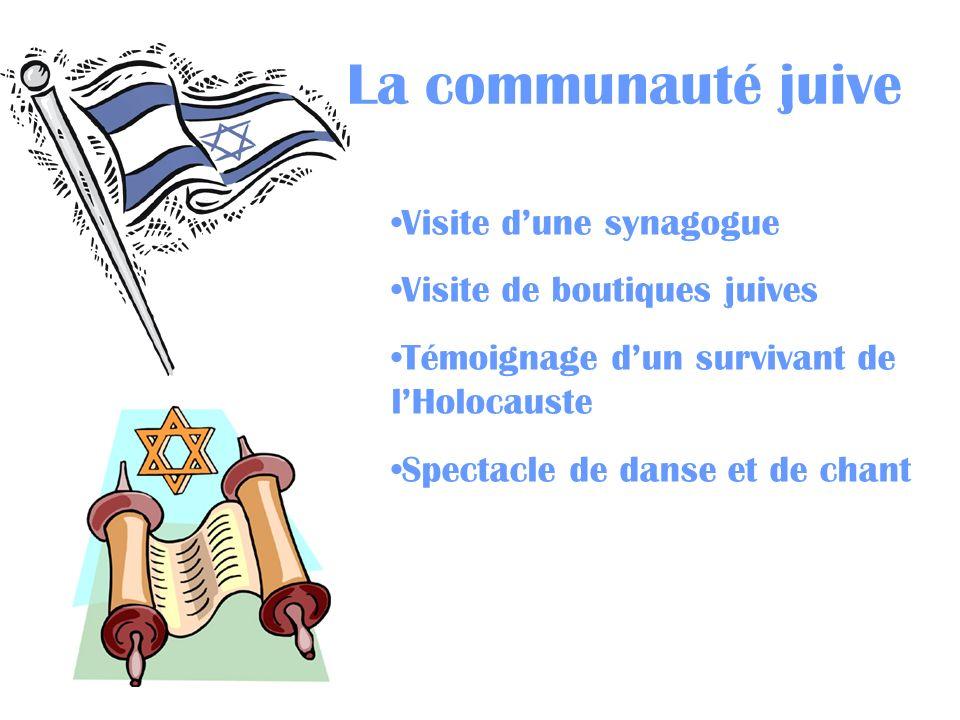 La communauté juive Visite d'une synagogue Visite de boutiques juives