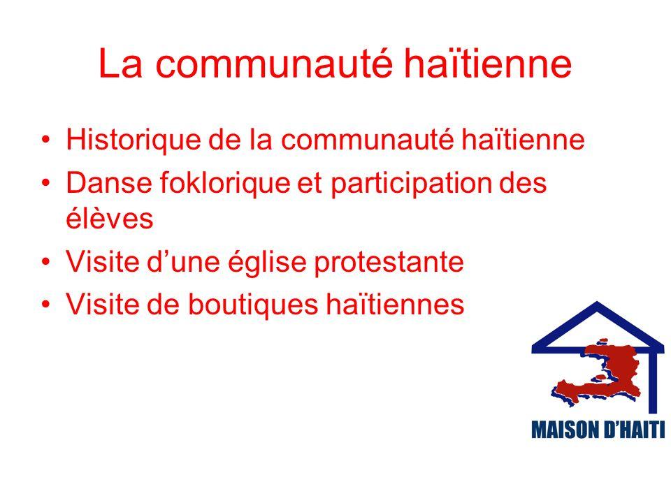 La communauté haïtienne