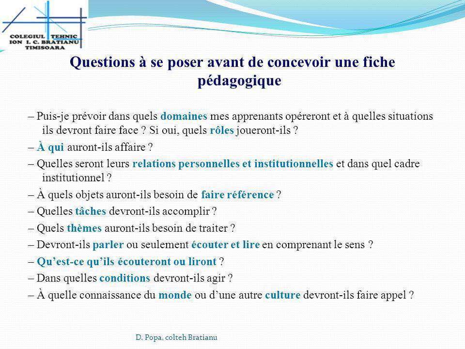 Questions à se poser avant de concevoir une fiche pédagogique
