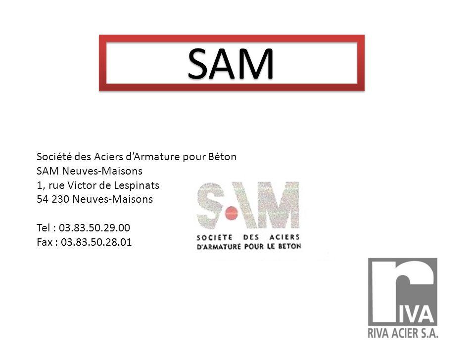 SAM Société des Aciers d'Armature pour Béton SAM Neuves-Maisons