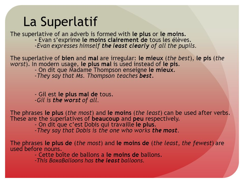 La Superlatif