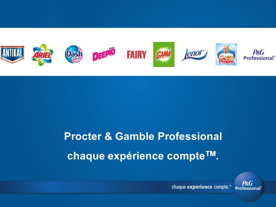 Procter & Gamble Professional chaque expérience compteTM.