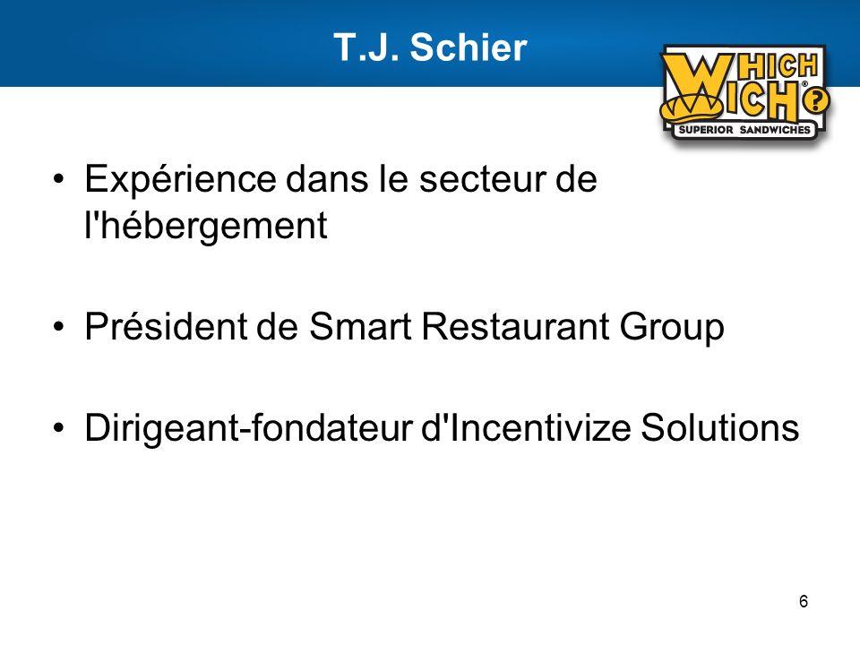 T.J. Schier Expérience dans le secteur de l hébergement.