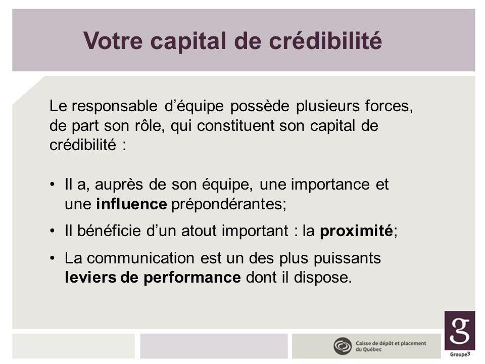 Votre capital de crédibilité