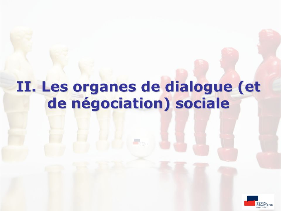 II. Les organes de dialogue (et de négociation) sociale