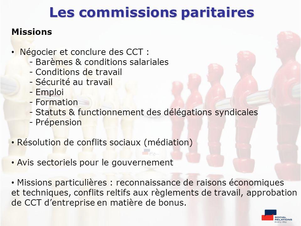 Les commissions paritaires