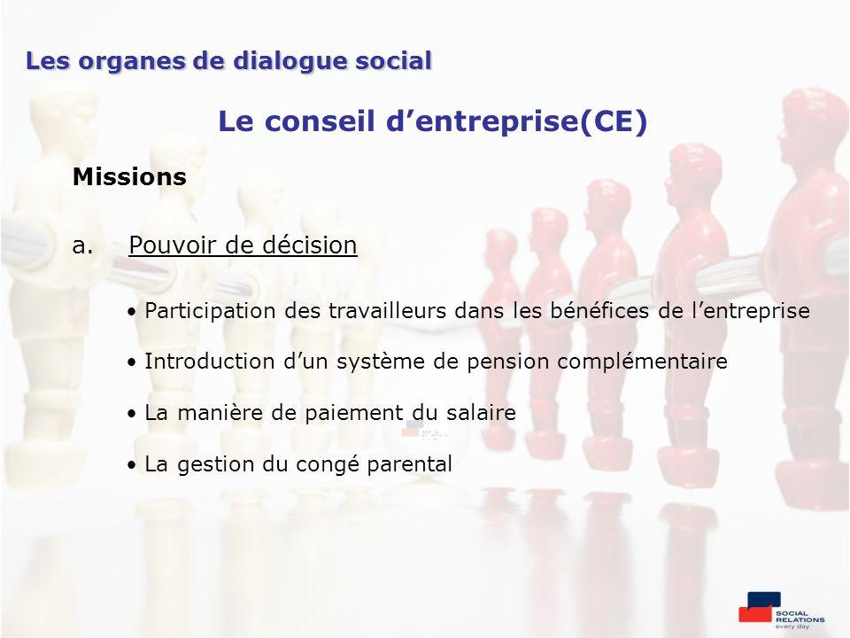 Le conseil d'entreprise(CE)