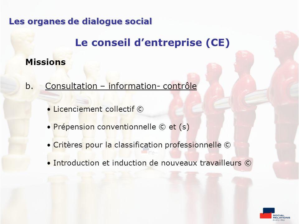 Le conseil d'entreprise (CE)