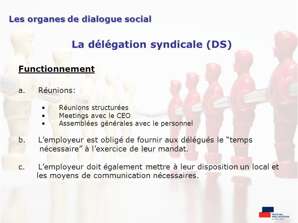 La délégation syndicale (DS)