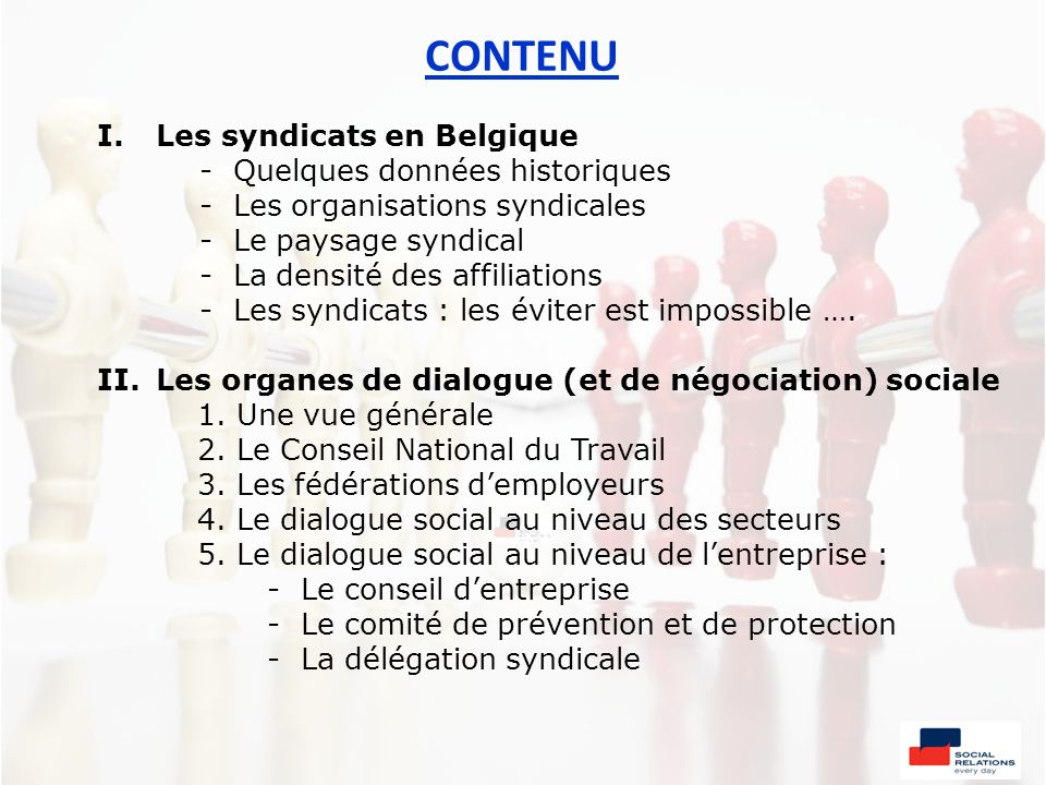 Seminarie workshop relations sociales dans la pratique - Office national de l emploi bruxelles ...