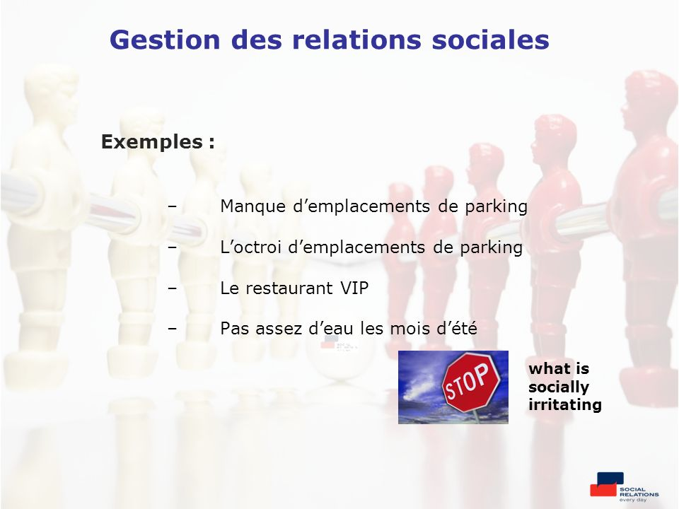 Gestion des relations sociales