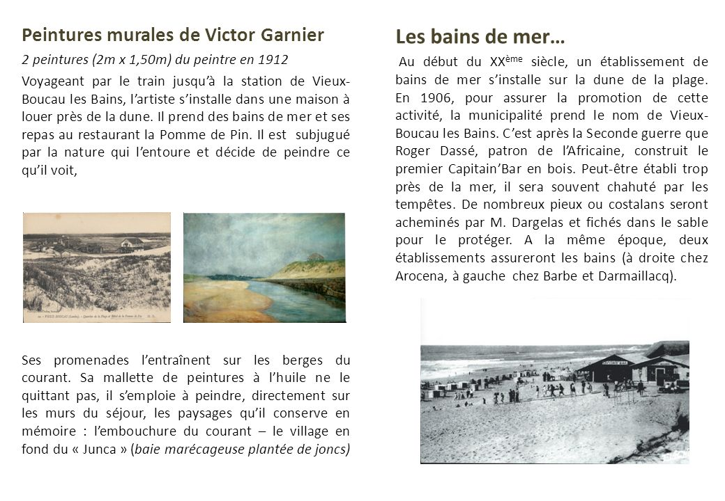 Les bains de mer… Peintures murales de Victor Garnier