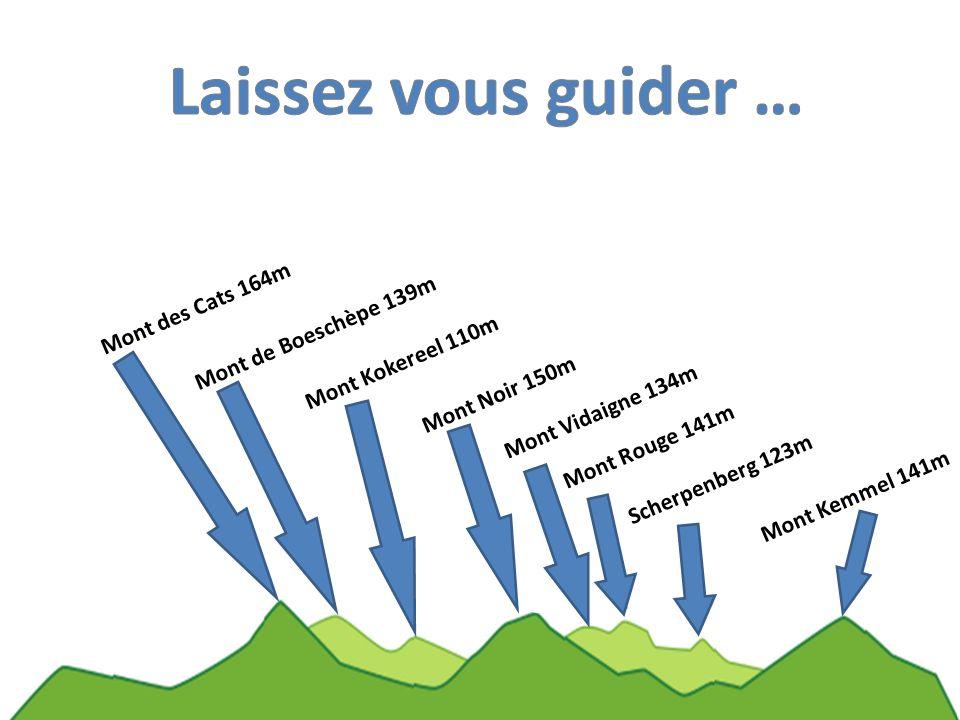 Laissez vous guider … Mont des Cats 164m Mont de Boeschèpe 139m