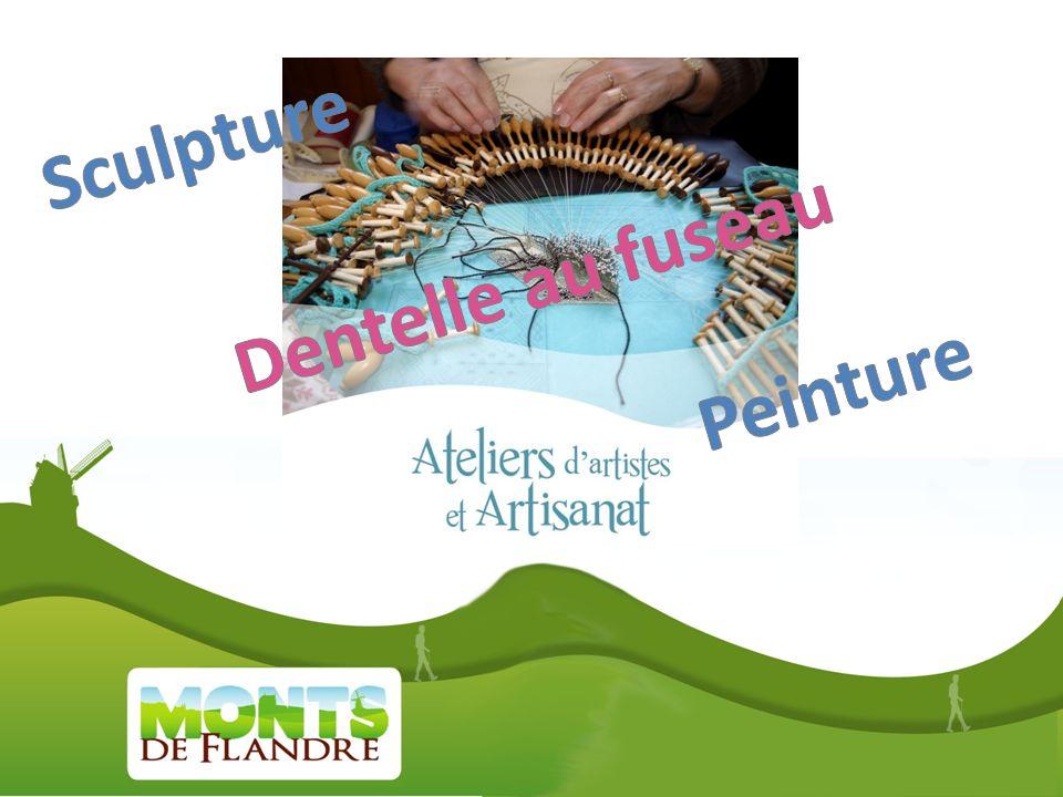 Sculpture Dentelle au fuseau Peinture