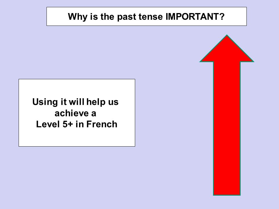 Why is the past tense IMPORTANT