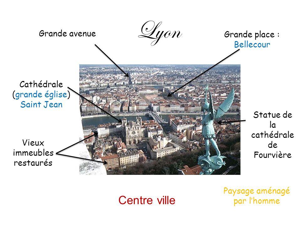 Lyon Centre ville Grande avenue Grande place : Bellecour